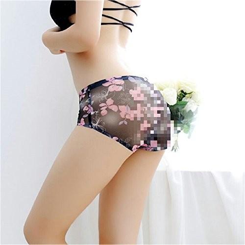 Angel's Beauty Sexy Transparent Lace Panties Seamless Low waist Printed Briefs Panties Thongs Boyshort Lingerie Underwear