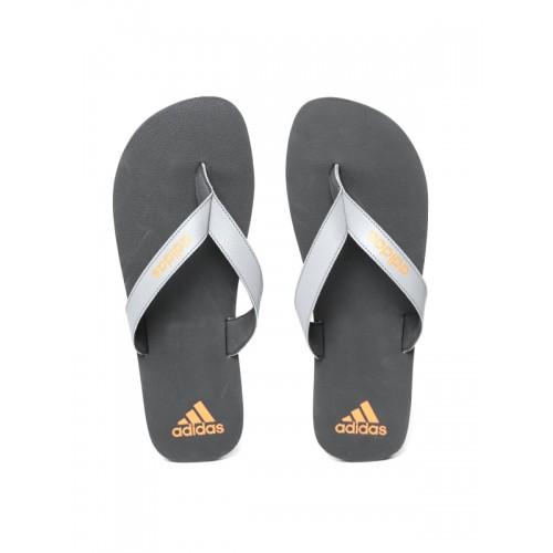 4997022b1683 Buy Adidas Men Grey   Black PUKA Solid Thong Flip-Flops online ...