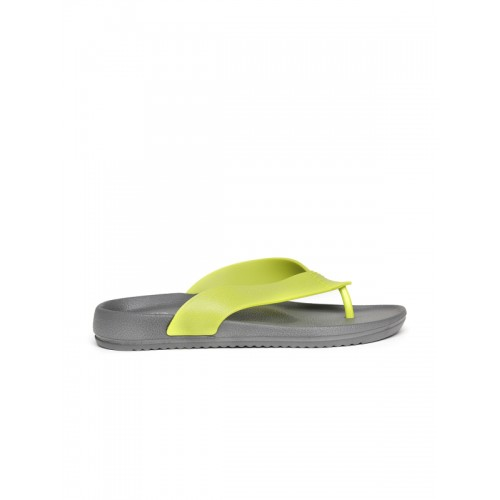 Flipside Men Lime Green & Grey Flip-Flops