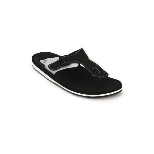 Adda Men's Omega 1 Black & White Flip Flops