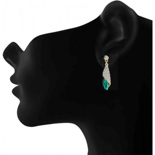 Oviya Endearing Crystal Earrings Crystal Alloy Dangle Earring