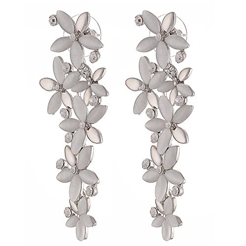 Jewels Galaxy White-Golden Luxuria Designer Earring Limited Collection For Wedding