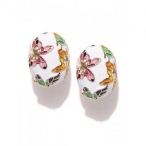 You Bella Stylish Enamel Fancy Party Wear Jewellery Alloy Stud Earring
