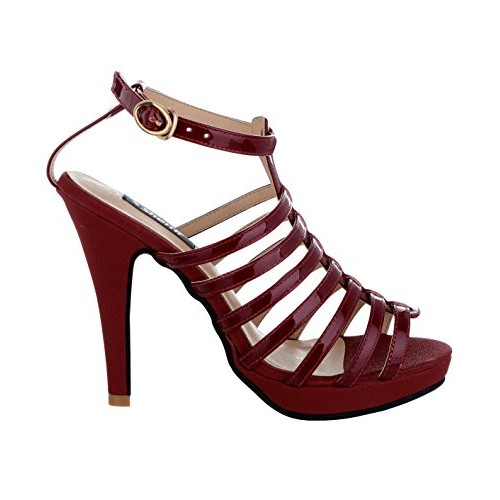 1405005d1d9 Buy SHERRIF SHOES MAROON STRAPPY SANDALS online