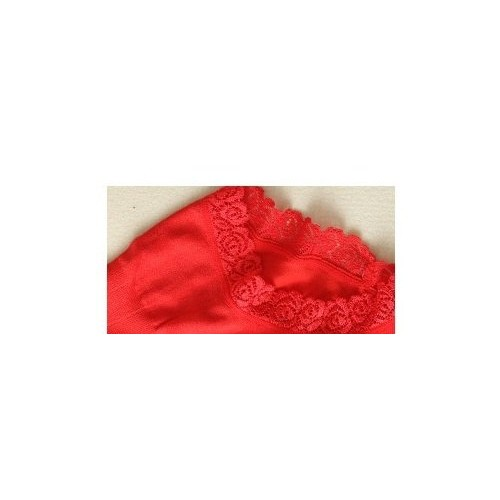 TBOP Underwear Sexy Babydoll New high Waist Abdomen Seamless Breathable Lace Underwear Free Size in red Color for Women
