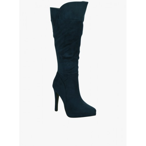 Get Glamr Navy Blue Boots