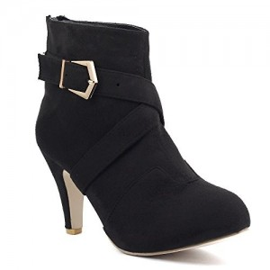 Shuberry Latest Footwear Collection, Comfortable & Fashionable Fabric, Black Colour Suede Boots for Women's & Girl's (SB-220)