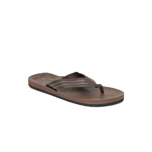 Flipside Men Brown Printed Flip-Flops