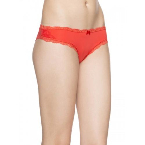 Candyskin Coral Red Solid Bikini Briefs CS-PNTY-B18RED550