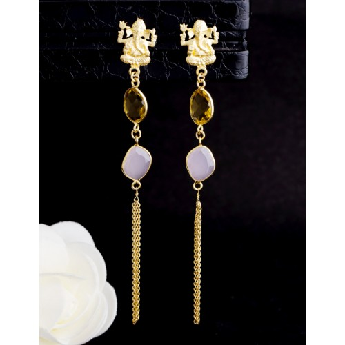 8bc1d7885 Buy Voylla Dual Tone & Pastle Gold-Plated Drop Earrings online ...