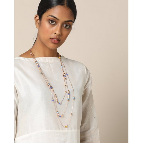 e3308169476fb7 Buy Project Eve Multi-Layered Beaded Necklace online   Looksgud.in