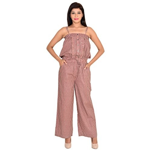 b08bf2fb51fe Buy GOODWILL Casual Printed Sleeveless Maroon Cotton Jumpsuit online ...