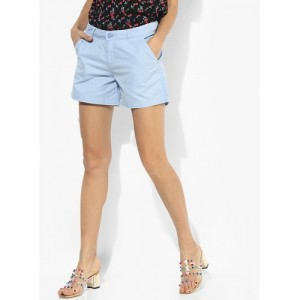 Honey By Pantaloons Light Blue Solid Shorts