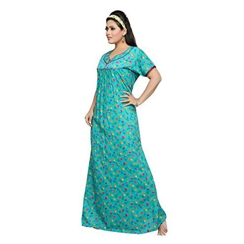 Buy Soulemo Women s Cotton Printed Long Nighty online  3541f9ab1
