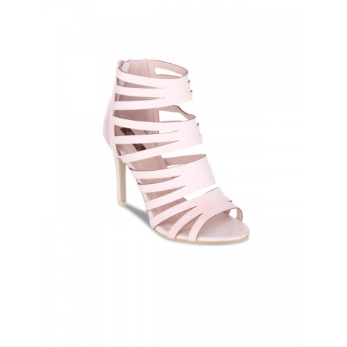 7038bf97757 Buy SHUZ TOUCH Women Pink Solid Gladiators online | Looksgud.in