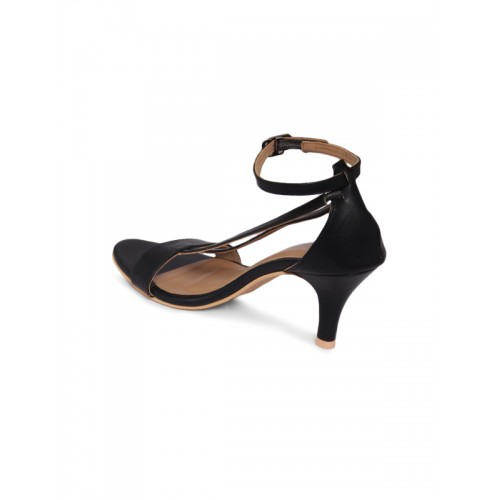Monrow Women Black Solid Slim Heels