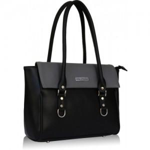 Fantosy Black Leather Shoulder Bag