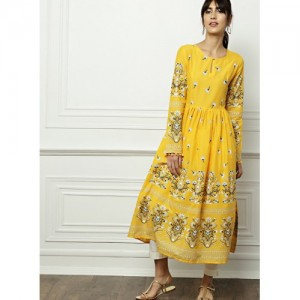 All About You Yellow Printed Kurta