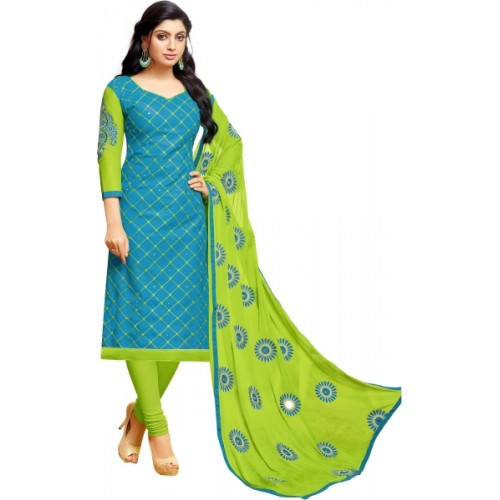 ec23095f6 Buy Pisara Cotton Embroidered Salwar Suit Dupatta Material online ...