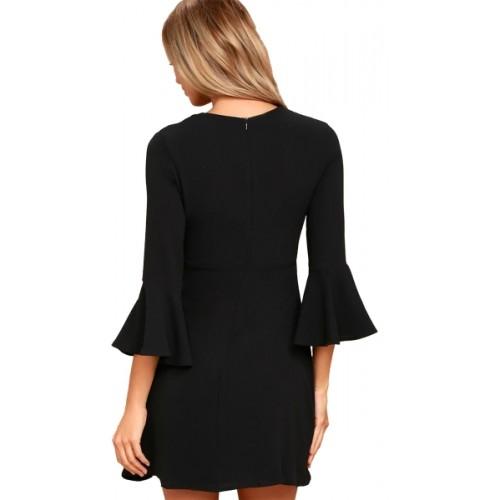 Addyvero Women's A-line Black Dress