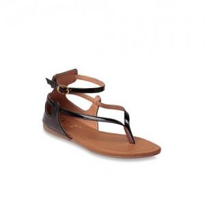 19deec5f6aaa Buy Kielz Black Ankle Strap Sandals online