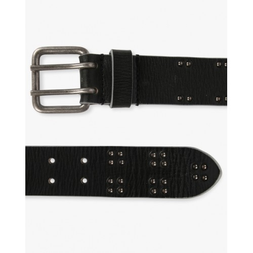 AJIO Genuine Leather Belt with Metal Studs