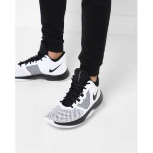 Nike Men White & Black Air Precision II Basketball Shoes