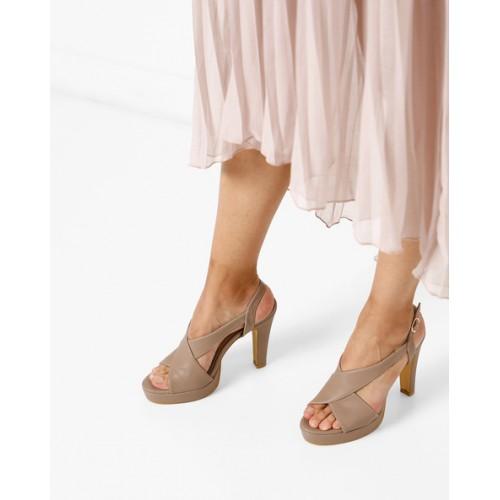 76b80ddd24e9 Buy AJIO Peep-Toe Platforms with Ankle Strap online