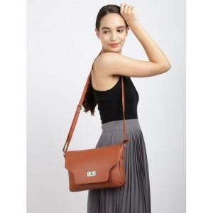 Mast & Harbour Tan Brown Solid Sling Bag