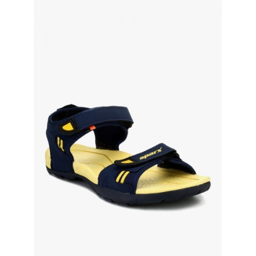 c588878cbe9 Buy Sparx Men s Blue   Yellow Sandals online