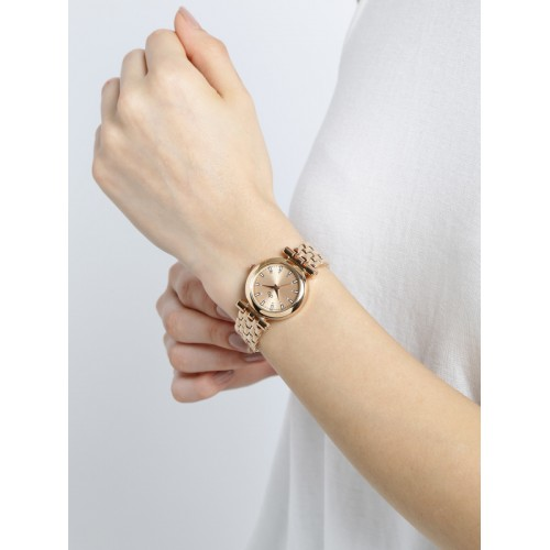 DressBerry Women Rose Gold-Toned Analogue Watch