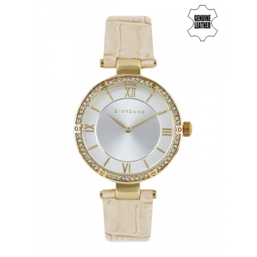 GIORDANO Women Silver-Toned Dial Watch A2039-02