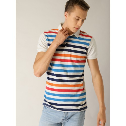 UNITED COLORS OF BENETTON Polo T-shirt with Striped Front