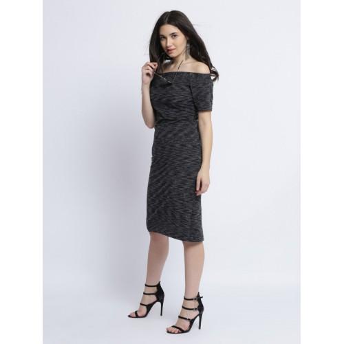 Miss Chase Women's Body Con Midi Dress