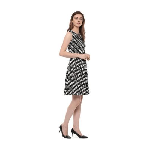Allen Solly Women A-line Black Dress