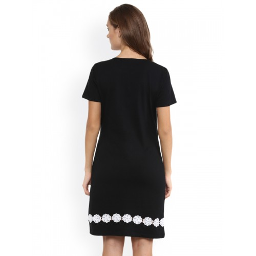 Miss Chase Black Relaxed Fit Dress