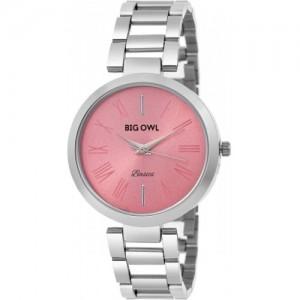 BigOwl Pink Dial Analogue Women Wrist Watch BOBASIC-01