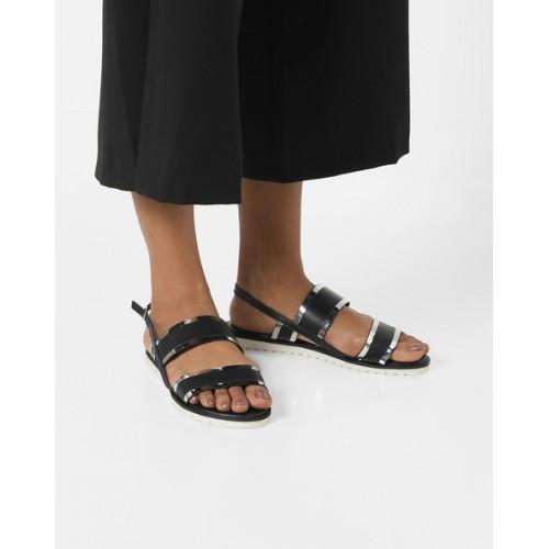 506217377db Buy AJIO Sling-Back Flat Sandals online