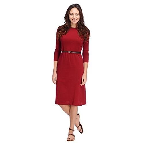 31d5b6a19af6 Buy Rigo Women s Maroon Aline Midi Dress online