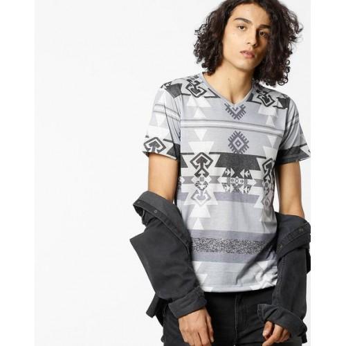 VOI Mens Symm Tee Crew Neck Shirt Short Sleeve Regular Fit Pattern