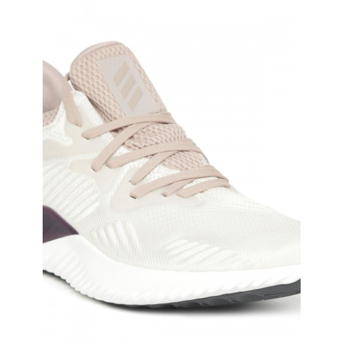 ad7c8e836 Buy Adidas Women Beige   White ALPHABOUNCE BEYOND W Running Shoes ...