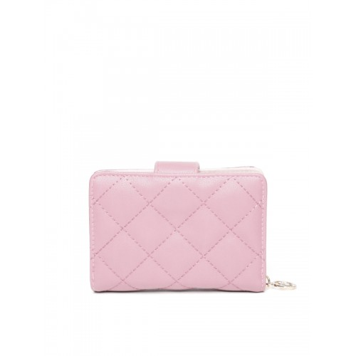 Lisa Haydon for Lino Perros Women Pink Quilted Wallet