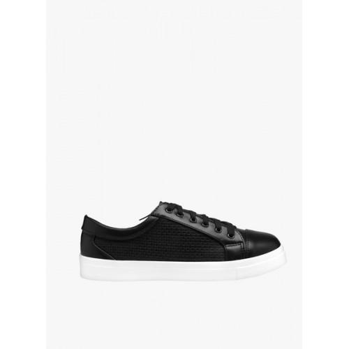 Flat n Heels Black Casual Sneakers