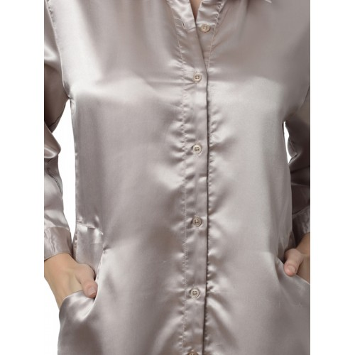 d40fe4bc33 Buy Da Intimo Women Solid Grey Sleep Shirt online