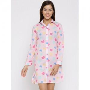 Clt.s Pink Heart Print Sleep Shirt C270