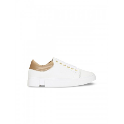 Get Glamr White Casual Sneakers