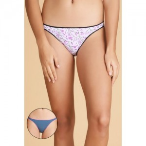 Zivame Zivame  Cotton Low Rise Bikini Panty (Pack Of 2)- Assorted