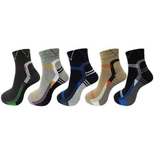 RC. ROYAL CLASS Smart Design Cotton Ankle Length socks For Men pack of 5