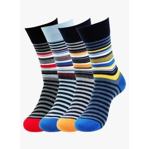 Bonjour Multicoloured Cotton Blend Striped Socks