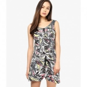 Only Multicolor Printed Round Neck Jumpsuits